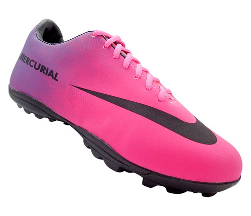 chuteira society nike mercurial roxo e pink