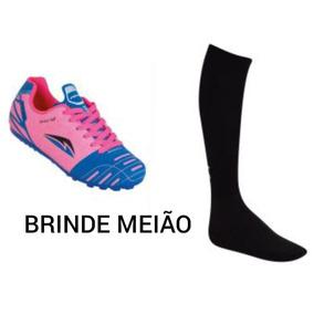 ead8eaf2f0 Chuteira Society Pink - Esportes e Fitness no Mercado Livre Brasil