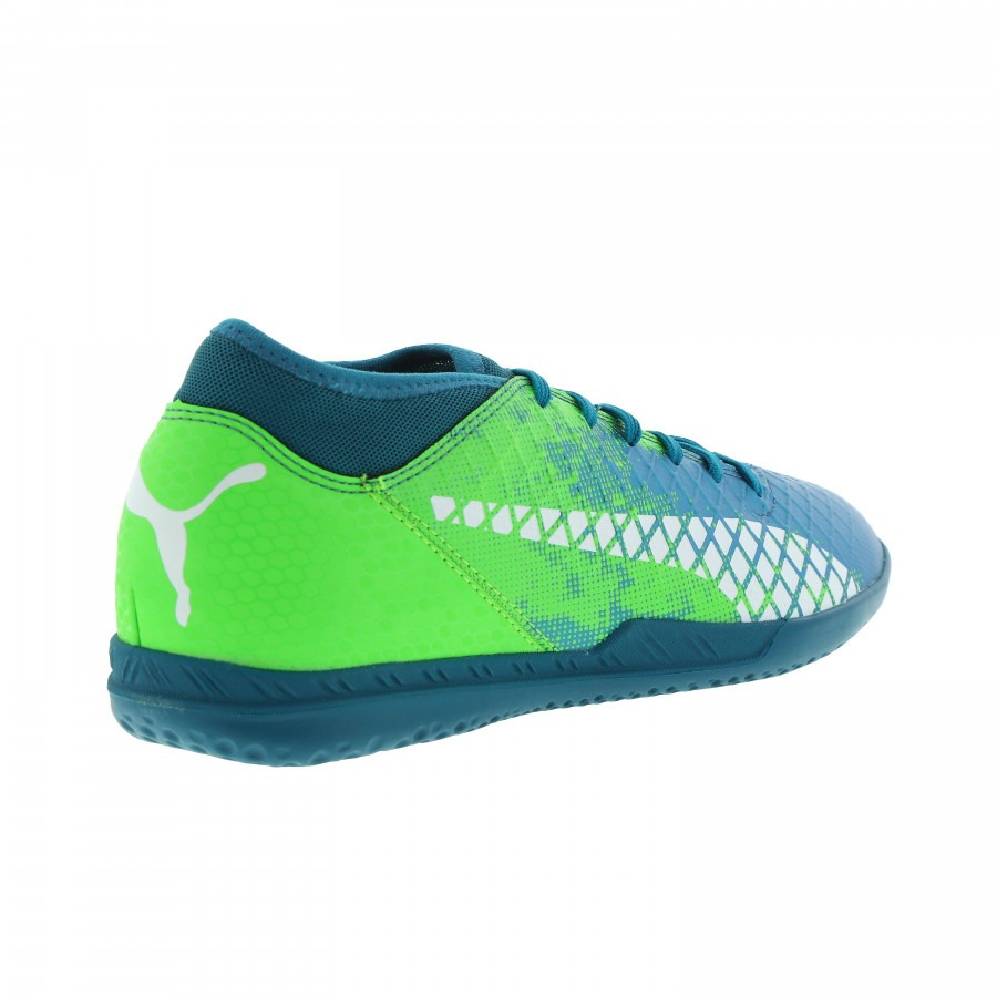 bf04a70832e0b chuteira society puma future 18.4 tt - verde e azul. Carregando zoom.