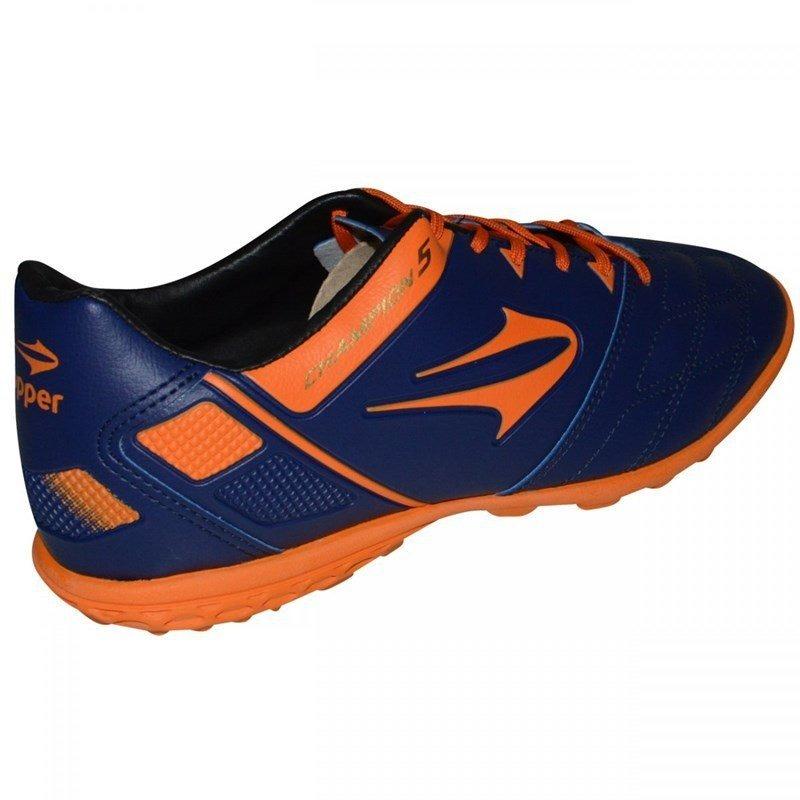 fa4205fb05ac9 chuteira society topper champion vmasculina - azul e laranja. Carregando  zoom.