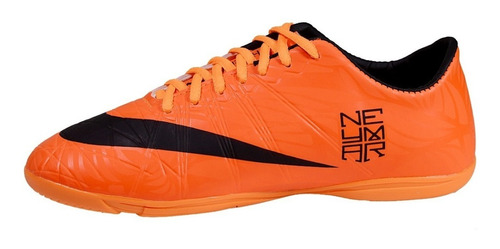 chuteira tenis futsal laranja branca amarela neymar tiempo