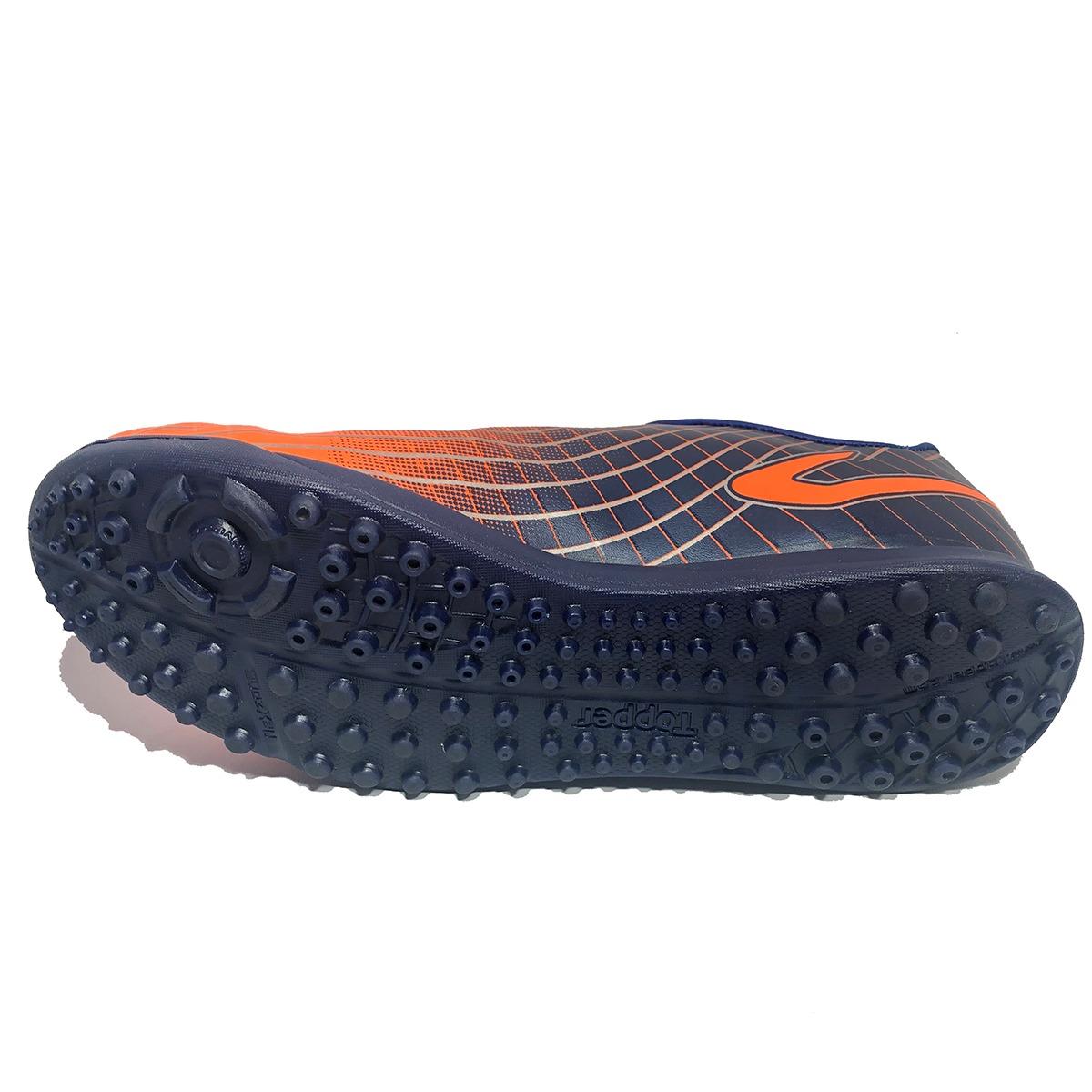 29e5793431 chuteira topper ultra society neon - laranja e marinho. Carregando zoom.