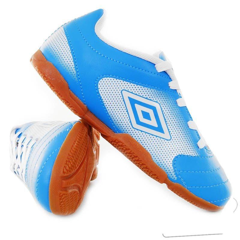 chuteira umbro striker in futsal juvenil azul - futfanatics. Carregando  zoom. f87d689588b7c