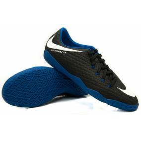 f7021762ed Chuteira Futsal Hypervenonx Azul Com Branco Primeira Linha ...