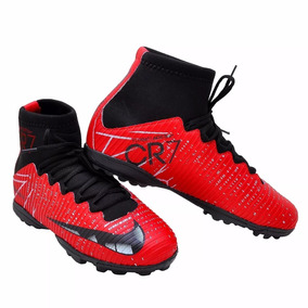 aefc54cb03dc9 Chuteira Botinha Nike Cr7 Preta Tim Teo - Chuteiras de Society para ...