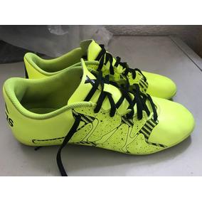 f3385e0df3549 Chuteira Futsal adidas X 15 4 In Masculina Verde Claro Troca