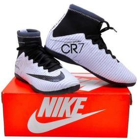 42788e5ff3964 Chuteira Cano Alto Cristiano Ronaldo Futsal Nike - Chuteiras Branco ...