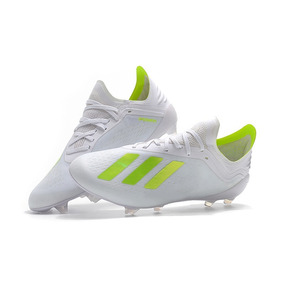 best loved 0000f 261aa Chuteira adidas X 18.1 Campo Profissional Branco+verde Limao