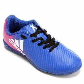 caf8f113d5921 Chuteira Adidas X 16.4 Rosa E Azul - Esportes e Fitness no Mercado Livre  Brasil