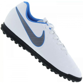 e433069738a56 Nike Tiempo Branco  Azul - Chuteiras de Society para Adultos no ...