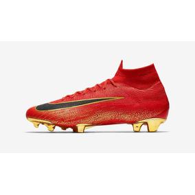8557fd6bb4f58 Mercurial Vermelha E Dourada - Chuteiras Nike de Campo para Adultos ...