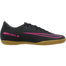d84e4b0b82997 Tênis Futsal Nike Mercurial Vortex Rosa E Prata - Chuteiras Nike no ...