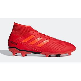 5aab060e0f353 Chuteira Adidas Predator Cravo De Ferro - Chuteiras Vermelho no ...