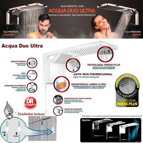 chuveiro acqua duo ultra branco lorenzetti 110 ou 220v 7800w