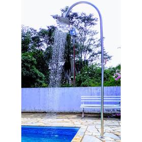 Chuveiro Ducha Luxus Inox Para Areas Externas Jardim Piscina