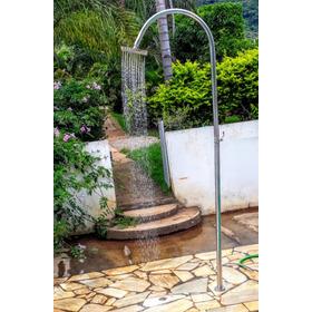 Chuveiro Ducha Nairóbi Inox  Áreas Externas Jardim Piscina