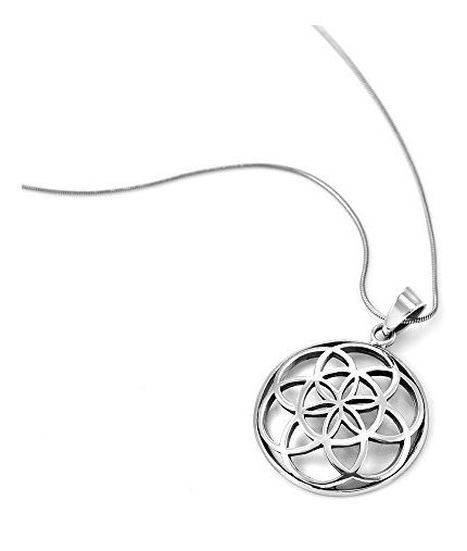 Mandala colgante plata de ley 18 mm