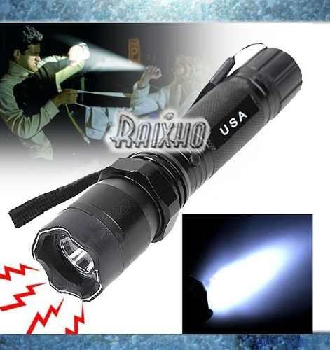 chuzo eléctrico con foco led para defensa personal- gangaaa!