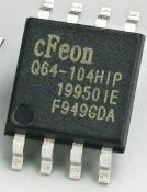 ci smd memória eprom en25q64 - q64 - cfeon 104hip - 25q64