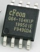 ci smd memória eprom en25q64 q64 cfeon104hip 25q64