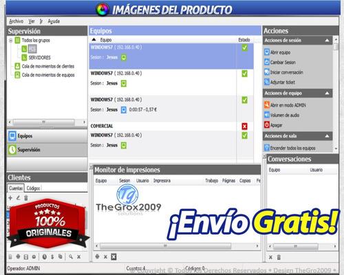 ciber control 2010 servidor + cliente español original