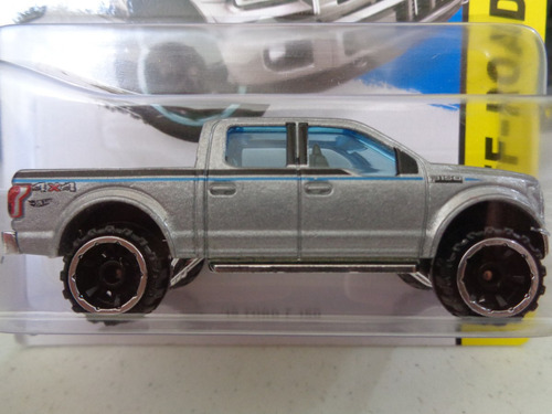 cibergatito `15 ford f-150 gris 119-250 hot wheels