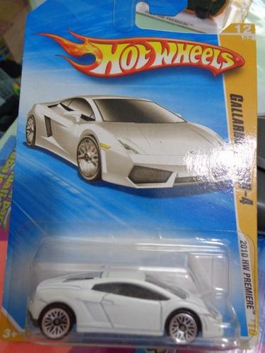 cibergatito lamborghini gallardo lp 560-4 blanco hot wheels