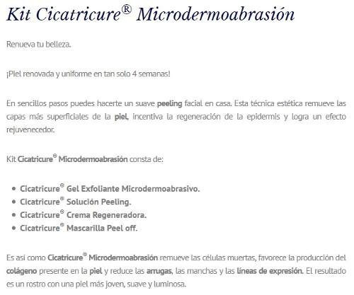 cicatricure micro-dermoabrasion peel off 4 pasos peeling