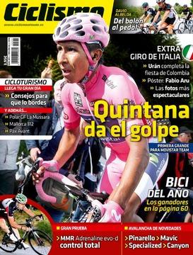 ciclismo a fondo - 355/2014, revista.  quintana da el golpe.