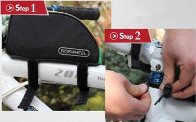 ciclismo bici bicicleta marco maletas tubo delantero bolso