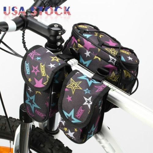 ciclismo mtb bicicleta tubo delantero bolsa marco pannier