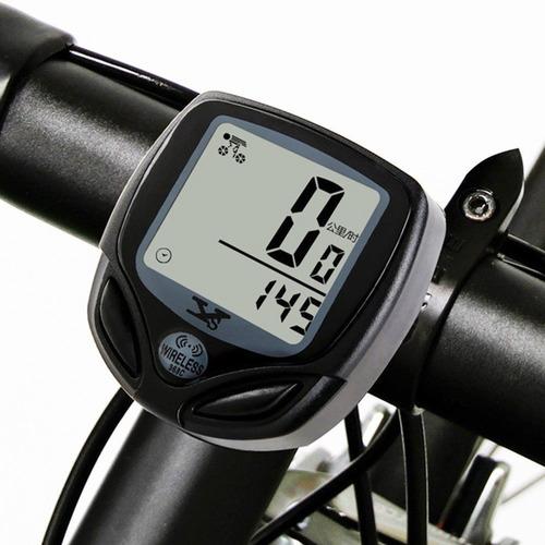 ciclo computador velocímetro bike sem fio + lanterna usb