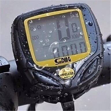 ciclo computador velocímetro bike sem fio à prova d'água luz
