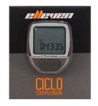 ciclo computador/velocímetro v-9 wireless cinza - elleven