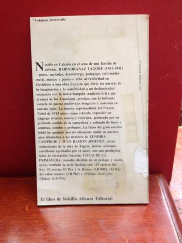 ciclo de la primavera - ravindranaz tagore. alianza editoria