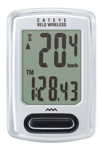 ciclocomputador cateye velo wireless + cc-vt235w branco