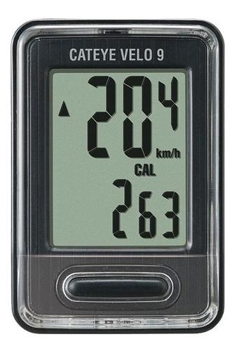 ciclocomputador velocimetro cateye velo 9 cc-vl820