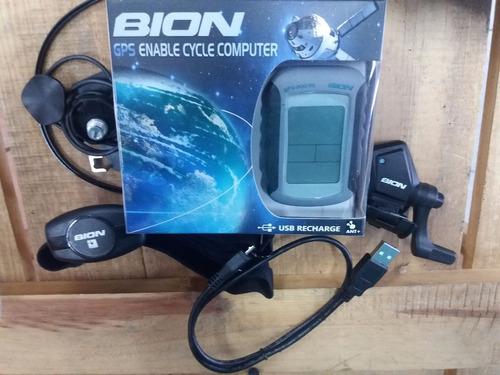 ciclocomputadora bion con gps cadencia y cardio