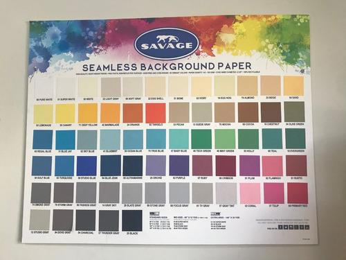 ciclorama de papel savage 1.35m x 11m varios colores
