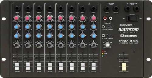 ciclotron mesa de som 8 canais mxs-8-sa audio mixer
