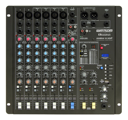 ciclotron mesa de som ambw-8 xdf 8 canais prof audio mixer