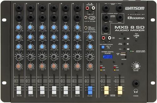 ciclotron mxs 8 sd mesa de som 8 canais usb