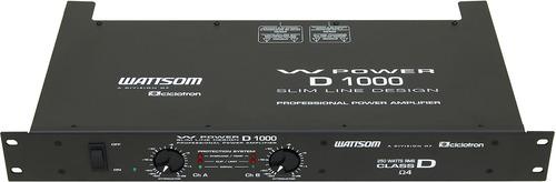ciclotron wpower d 1000 amplificador potência
