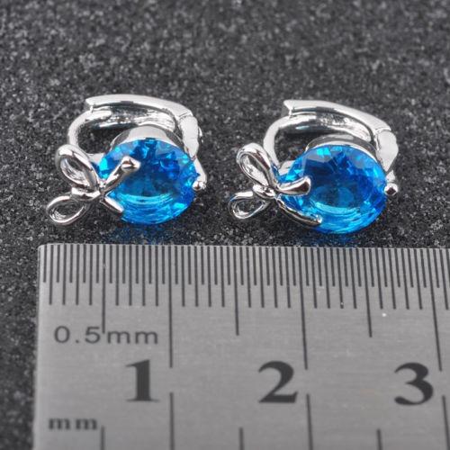 cielo azul topacio piedras preciosas para mujer joyas de pla