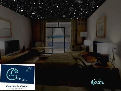 cielo estrellado en su habitacion, estrellas en techo simula