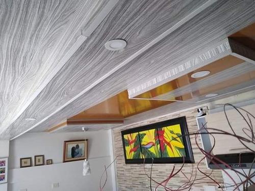 cielo raso y paredes en pvc, pvc 3d y drywall