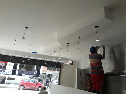 cielo rasos y muros drywall, superboard,pvc, pisos laminado