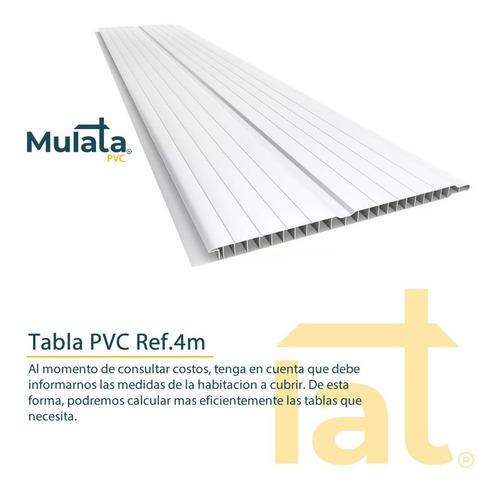 cieloraso pvc tabla 4m 7mm lambriz techo revestimiento