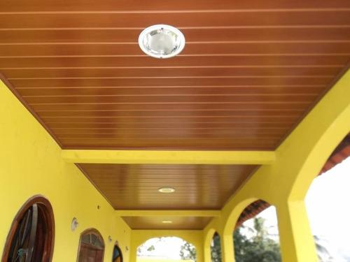 cielorraso de pvc color - cerejeira - imitación madera