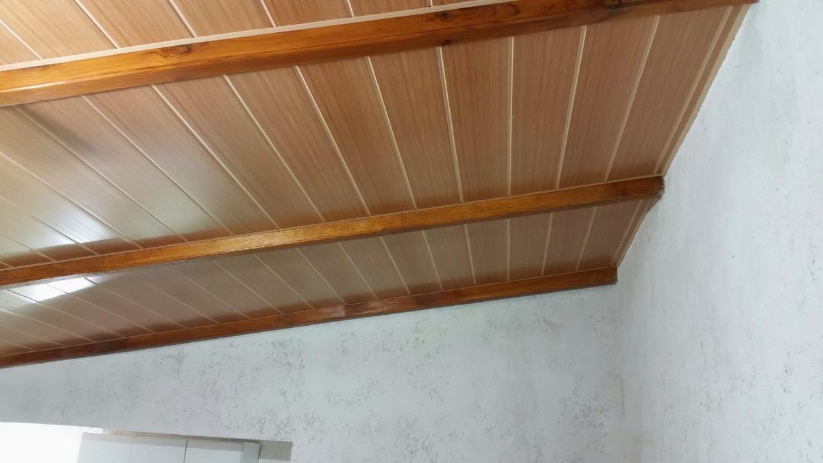 Cielorraso de pvc color roble imitaci n madera 299 - Suelos de pvc imitacion madera ...